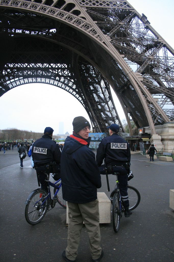 Eiffel Tower with Police protection